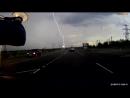 Гроза в Мончегорске, молния попадает в опору ЛЭП 15.07.2018г