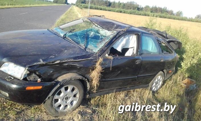Дрогичинский район: в ДТП пострадал нетрезвый водитель, не имевший права управления