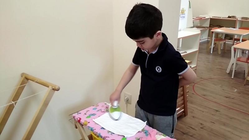 Занятие в Монтессори среде для детей от 3,5 до 6 лет