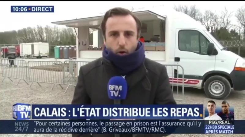 L'état a commencé la distribution des repas pour les migrants de Calais avec la bénédiction du petit gouverneur provincial