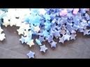 星つめよ。ラッキースターキャンドル作り。making lucky star candle