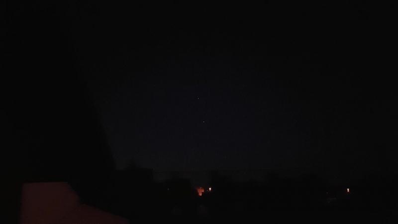 Пролет МКС на фоне Юпитера 22 мая 2018 года 0:57