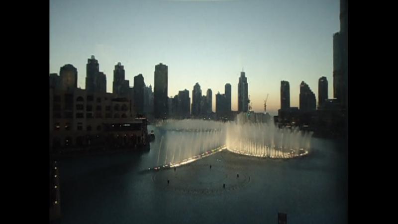 И еще фонтан в Дубаи