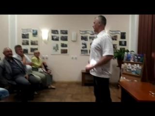 Александр Покровский в городской библиотеке г. Светлого