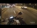 Лютая ночная катка по городу Балашиха. Толпа мотоциклистов