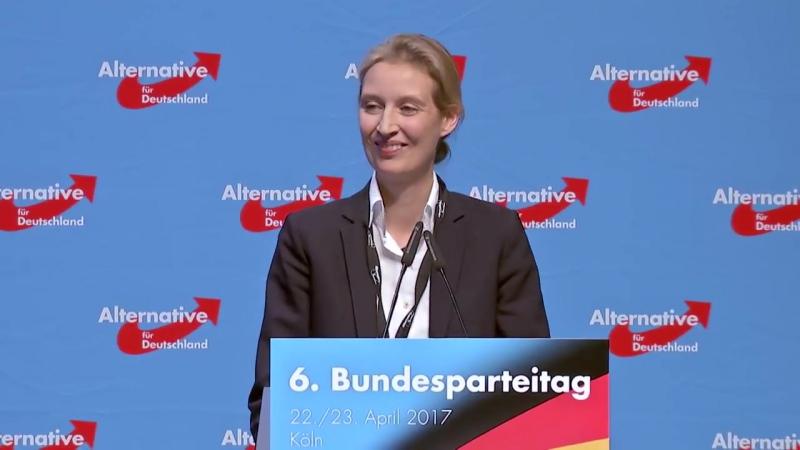 Rede von Alice Weidel auf dem AfD-Parteitag