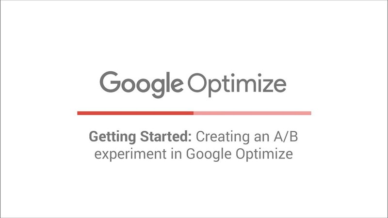 Getting Started: Creating an A/B experiment in Google Optimize