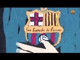 New graffiti mural of Leo Messi in Barcelona city center