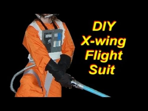 DIY Luke Skywalker Costume (x-wing pilot): Orange Flight Suit