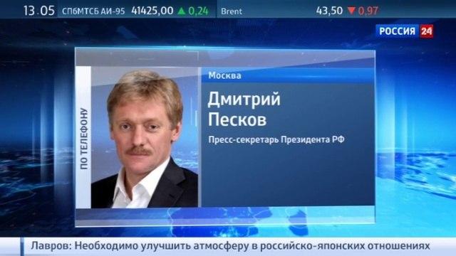 Новости на Россия 24 Песков призвал не демонизировать чиновников хотя в семье не без урода