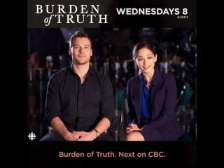 Kristin Kreuk Peter Mooney Burden of truth bloopers