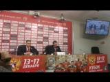 Хоккей. Россия - Канада пресс-конференция Знарка