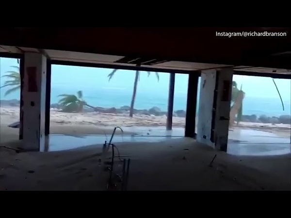 Richard Branson's House Destroyed by Hurricane Irma