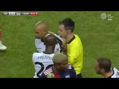Bryan Melisse Drop Kicks Opposing Player And Receives Red Card