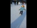 Сеня первый выход на лед