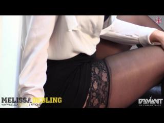 Melissa Debling Sexy Secretary Stockings Upskirt Big Tits Ass Nude Секси Секретарша в Чулках Снимает Юбку Большие Сиськи Попка