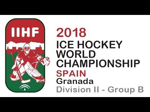 2018 IIHF ICE HOCKEY MEN'S W.C. Div. II Group B - Israel vs. Spain