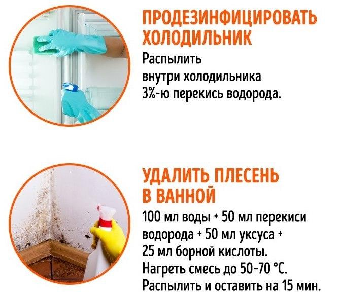 Применяем перекись водорода в домашнем хозяйстве
