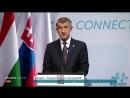 Anti EU Treffen der Visegrad Gruppe Pressekonferenz 21 06 18 Orban Kurz Polen Tschechien