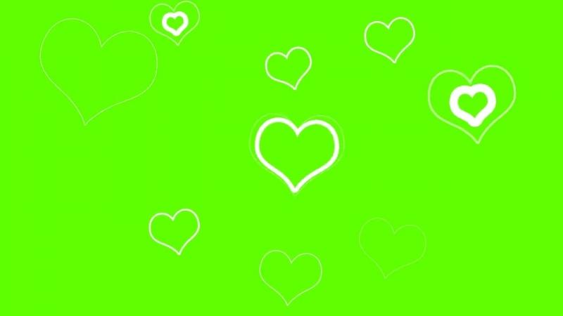 Футаж - Сердечки Green Screen (720p).mp4