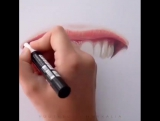 Amazing drawing (lips)