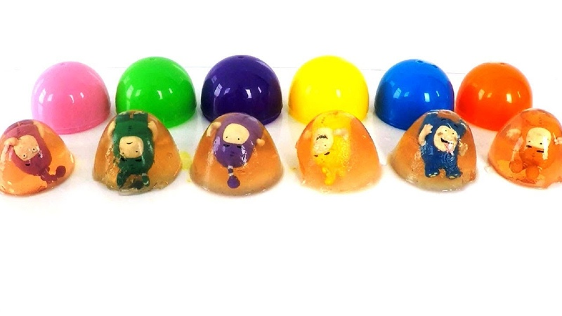 Oddbods Toys in Fruit Jelly Learn Colors with Oddbods Toys