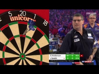 Gary Anderson vs Jeff Smith (PDC World Darts Championship 2018 / Round 1)