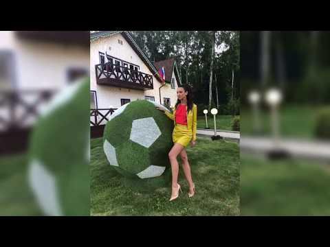 Ольга Бузова и футбольный мяч ⚽️😍Все мысли о футболе!!❤️За кого болеете вы? FIFA 2018