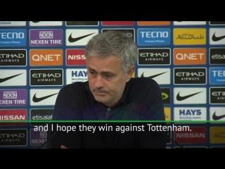 Jose mourinho backs man city to beat spurs and lift the premier league!