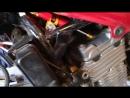 Рулевой демпфер на Honda cb500. Steering damper on Honda cb500