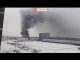 В Химках горят склады с пластиком на Вашутинском шоссе