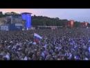 Болельщики смотрят матч Россия - Египет в Москве