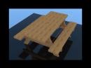 Стол-скамейка своими руками
