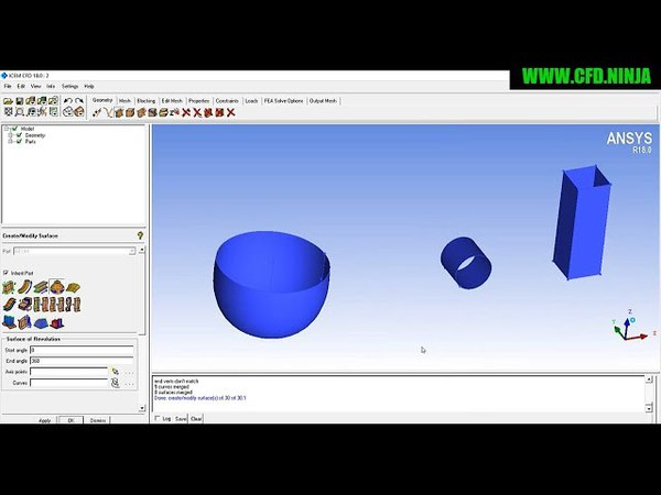 ICEM CFD - Create Surface - Basic Tutorial 2
