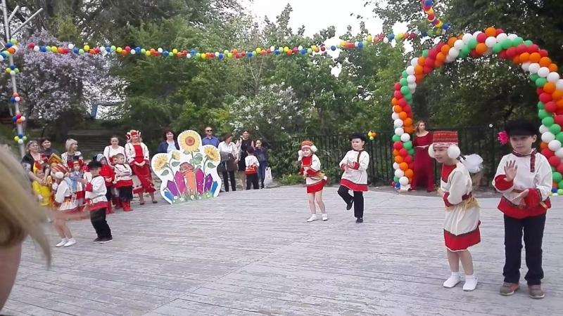Выступление на мордовском празднике
