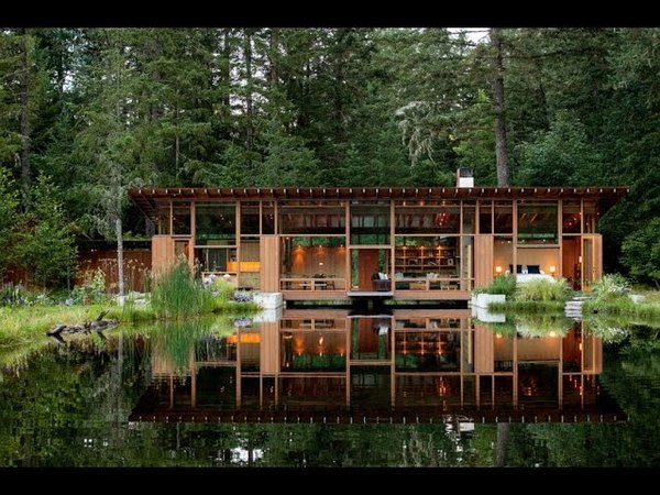 Contemporary House Design Connecting Nature and Living World by Integrating Pond and the Residence