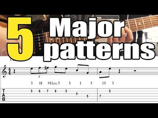 5 major jazz guitar patterns - Lesson with tabs