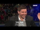 Реакция Джеррарда на голы Салаха в ворота