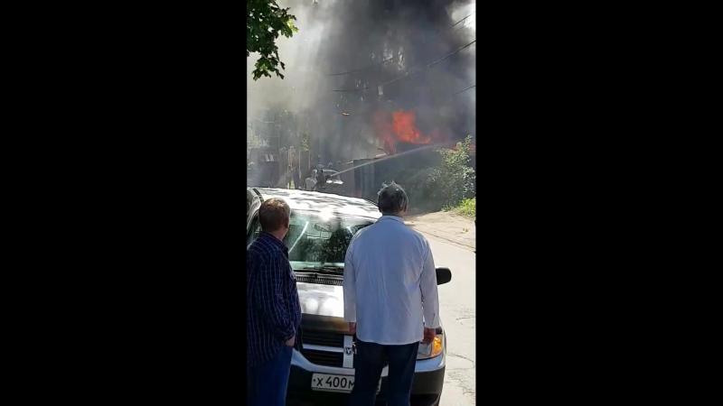 Пожар в Красном Селе 20.06.18