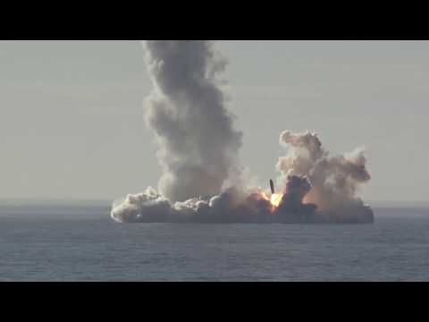 RAW Russian nuclear sub launches Bulava missiles in barrage MoD footage