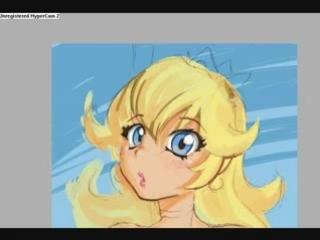 Princess Peach speedpaint by MadArtist