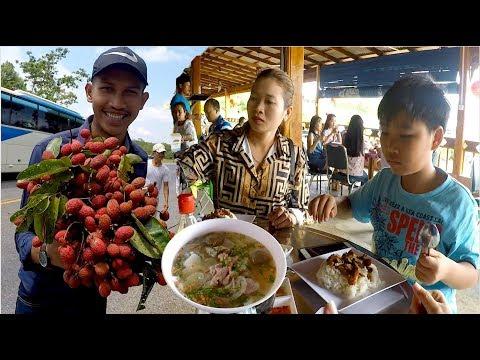 Breakfast at Seven Stars Restaurant Buy Jungle Fruits on The Way to Krong Koh Kong