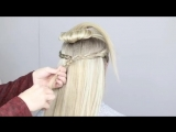 Отличный вариант прически на распущенные волосы