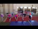 тренировка на цирковой основной , складка назад...