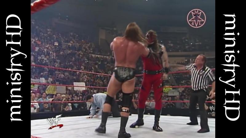 Kane Chokeslams Triple H, Chyna, Shane McMahon 1999
