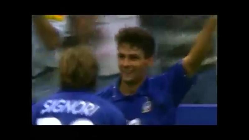 Роберто Баджо - мяч в ворота сборной Испании, 1994 год