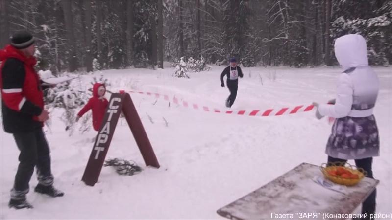 Снегобег Мандаринчик-2018 в конаковском бору.