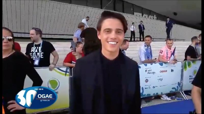 ALEKSEEV Интервью для OGAE Greece, Лиссабон, Португалия (06.05.18)