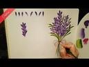 One Stroke Lavanta lavender Nasıl Yapılır Didem 1080p Full HD
