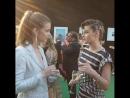 Kristen and VS model Barbara Palvin